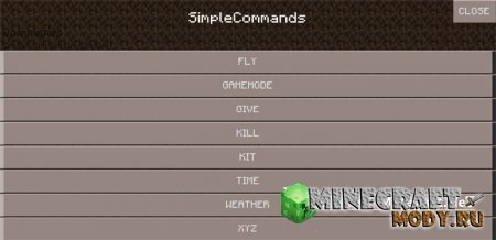 SimpleCommandsButtons - Minecraft PE 1.2.1, 0.14.0