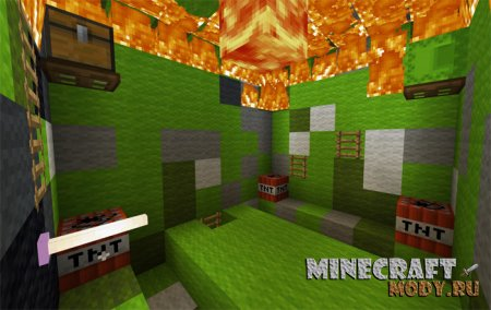 Burning It Down: Burn'em Mobs - Карта Minecraft PE 1.2.10.1 - 1.2
