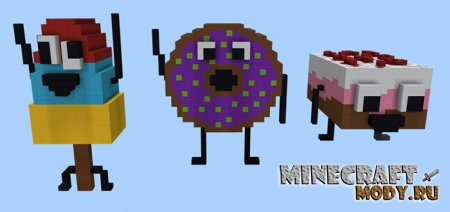 Burn It Down: Desserts Edition - Карта Minecraft PE 1.2.13.10-1.2
