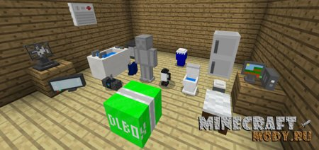 Mine-Furniture v6 - Мод/Аддон Minecraft PE 1.6, 1.5, 1.4, 1.2, 1.1