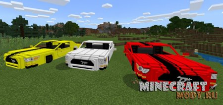 Ford Mustang GT - Мод/Аддон Minecraft PE 1.4.2, 1.5.0.4, 1.2
