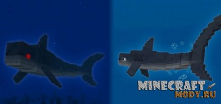 Jaws and Megalodon - Мод/Аддон Minecraft PE 1.7.0.5, 1.6, 1.5, 1.4