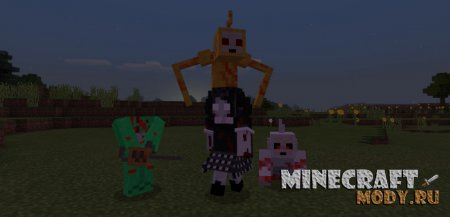 Slendytubbies Мод/Аддон Minecraft PE 1.13, 1.12, 1.11, 1.9, 1.8