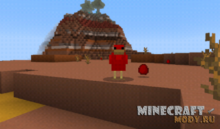 Nugget Chickens Мод/Аддон Minecraft PE 1.13, 1.12