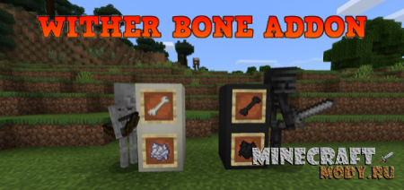 Wither Bone Мод/Аддон Minecraft PE 1.14, 1.13