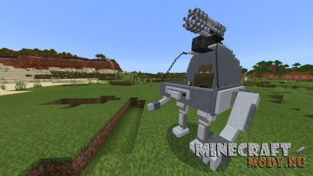 Mechs and Jetpacks v2 Мод/Аддон Minecraft PE 1.15, 1.14