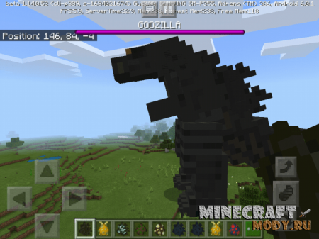 Godzilla King Of The Monsters Мод/Аддон Minecraft PE 1.16, 1.15, 1.14